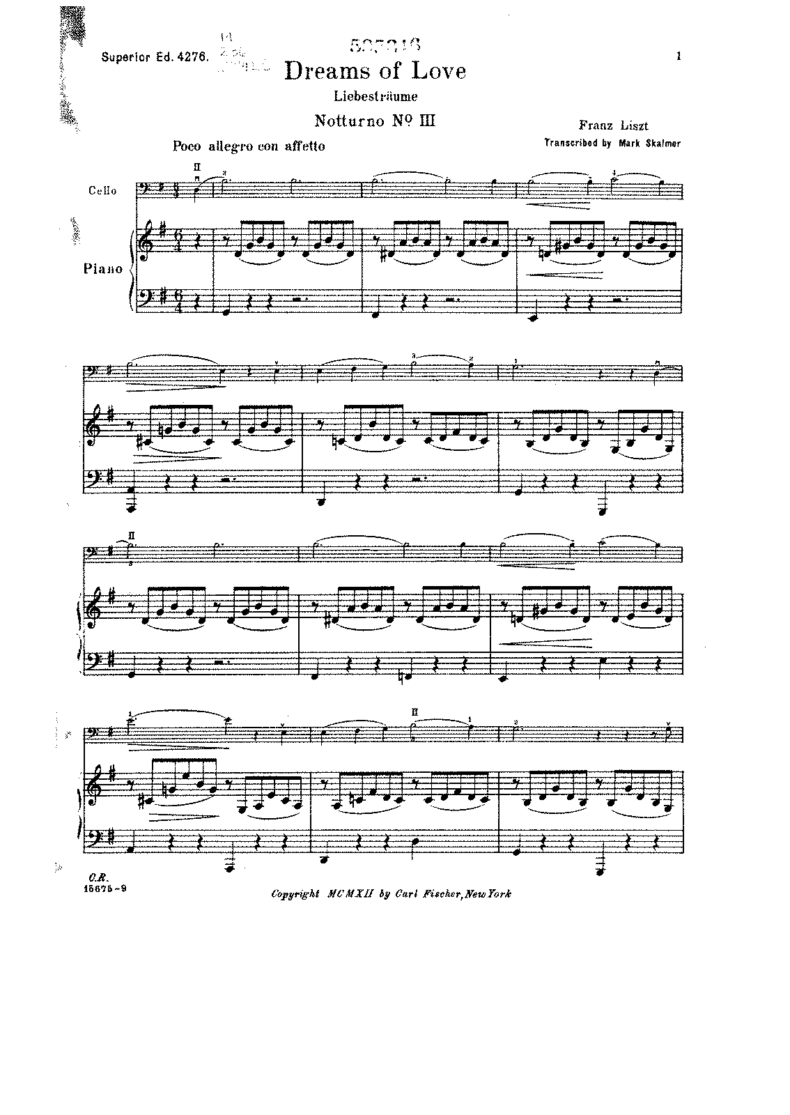PMLP02598-Liszt - Liebestraum (Dream of love) Notturno NoIII (S.4276) (Skalmer) for Cello and Piano score.pdf