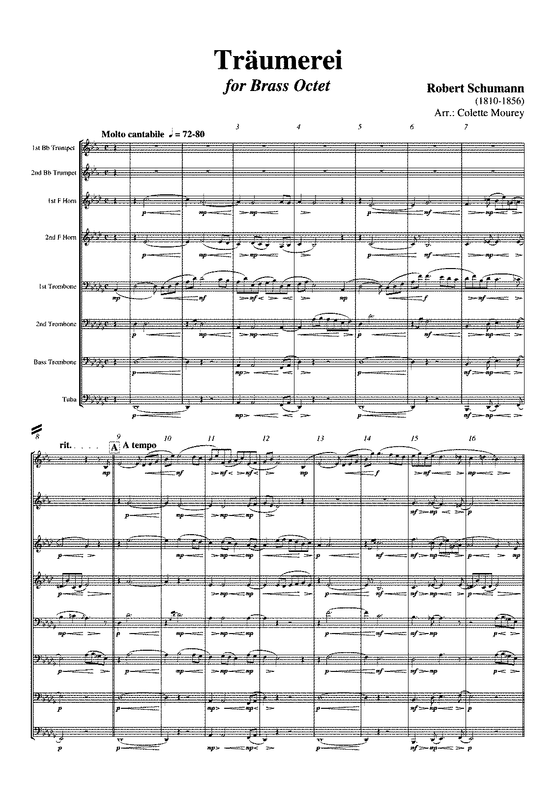 PMLP02799-Träumerei Schumann Brass Octet Arr Colette Mourey Full Score and Parts.pdf