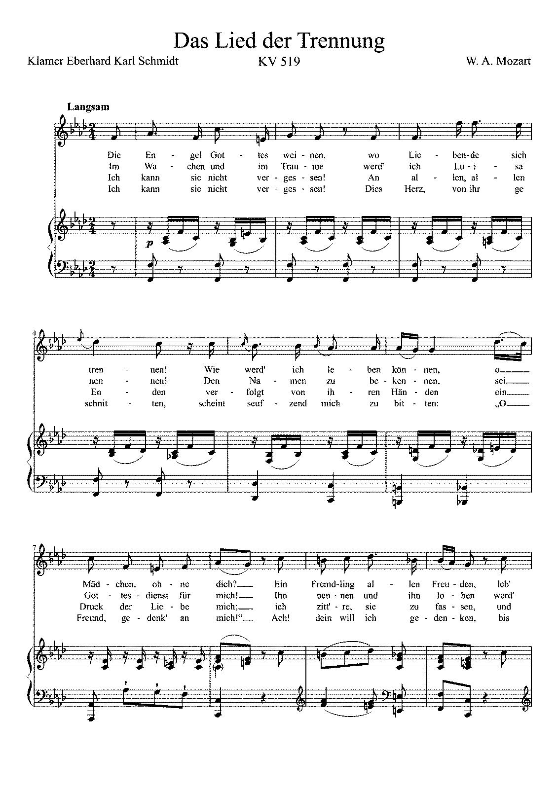 Das lied der trennung k519 mozart wolfgang amadeus imslp sheet music hexwebz Image collections