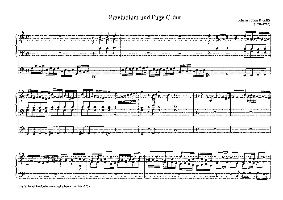 prelude and fugue in c major sheet music pdf