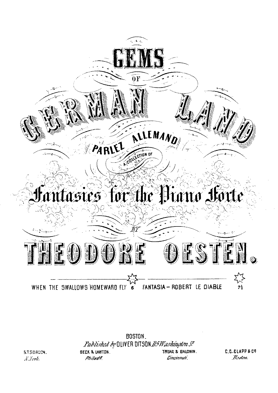 PMLP351844-Oesten - Gems of German Land - When The Swallows Homeward Fly - Oliver Ditson - UNC.pdf