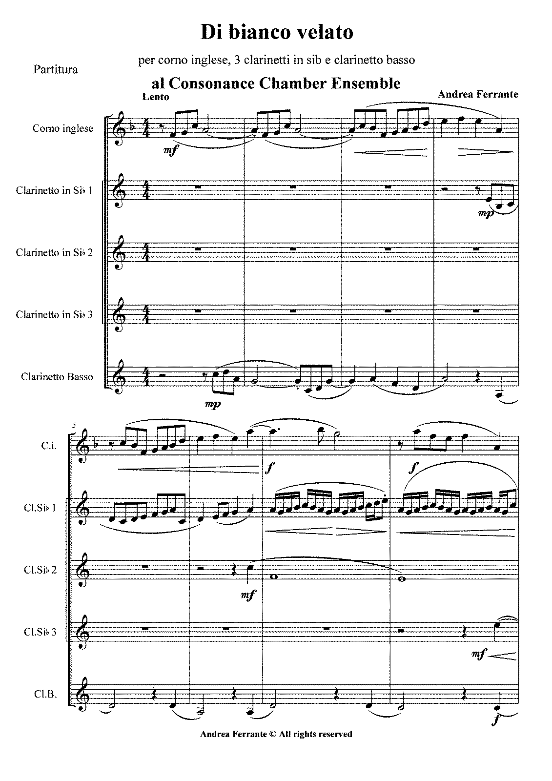 PMLP156538-A.Ferrante - Di bianco velato - for english horn and 4 clarinets - SCORE.pdf