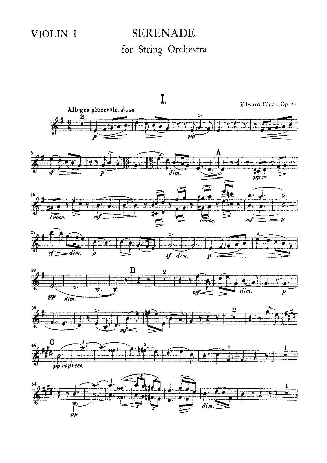PMLP34331-Elgar Serenade for Strings Op.20 Violins I Kalmus.PDF