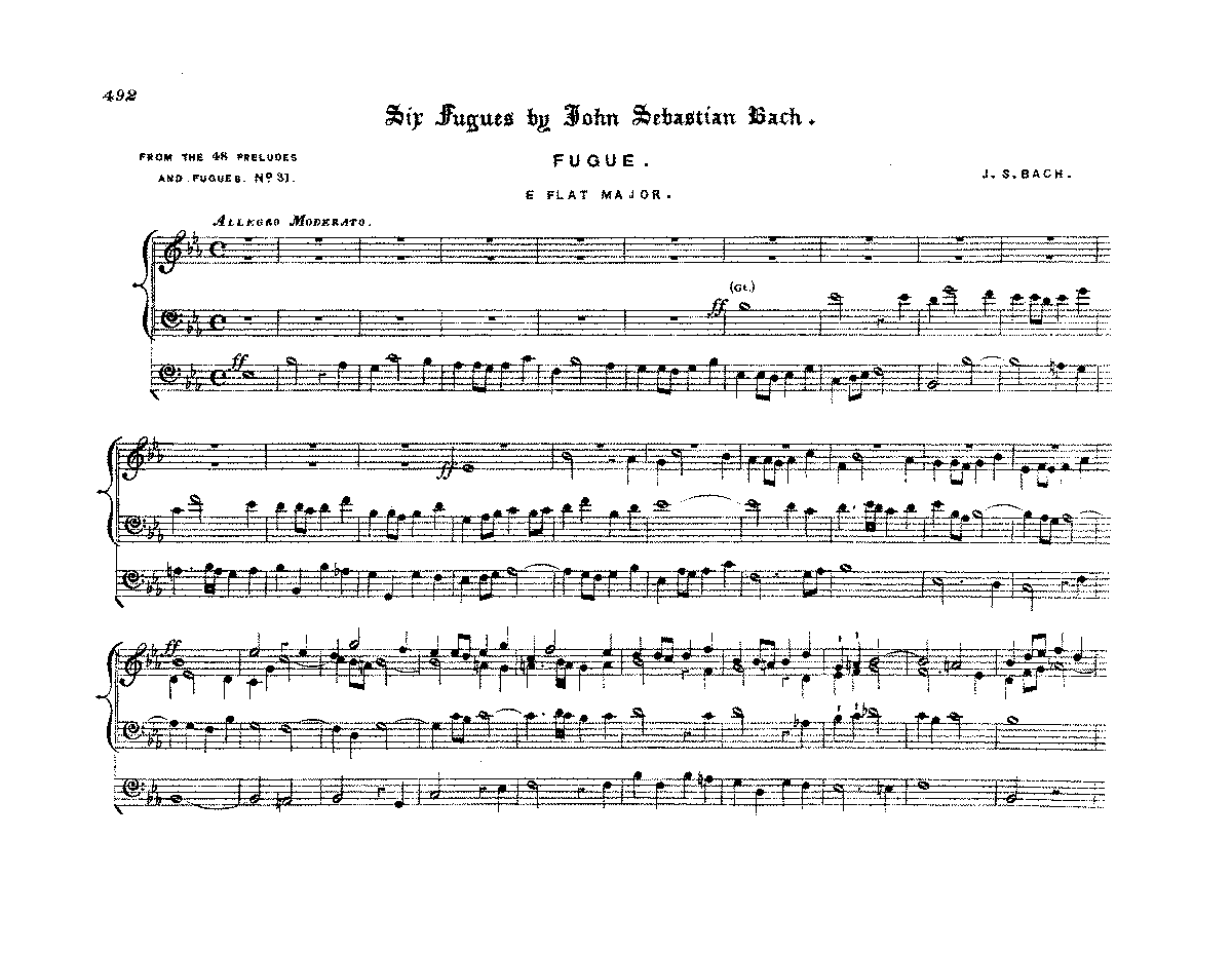 bach prelude and fugue in a flat major Because the prelude and fugue in c major, bwv 547, is known only from copies bach made while in leipzig, it is generally assumed to have been composed while bach worked in that city.
