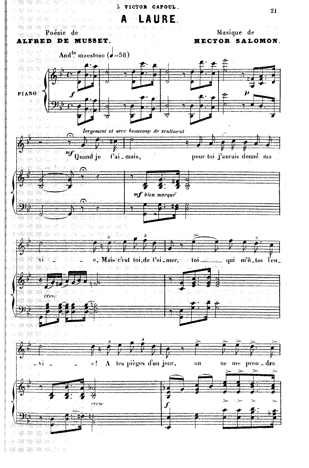 À Laure (Salomon, Hector) - IMSLP/Petrucci Music Library