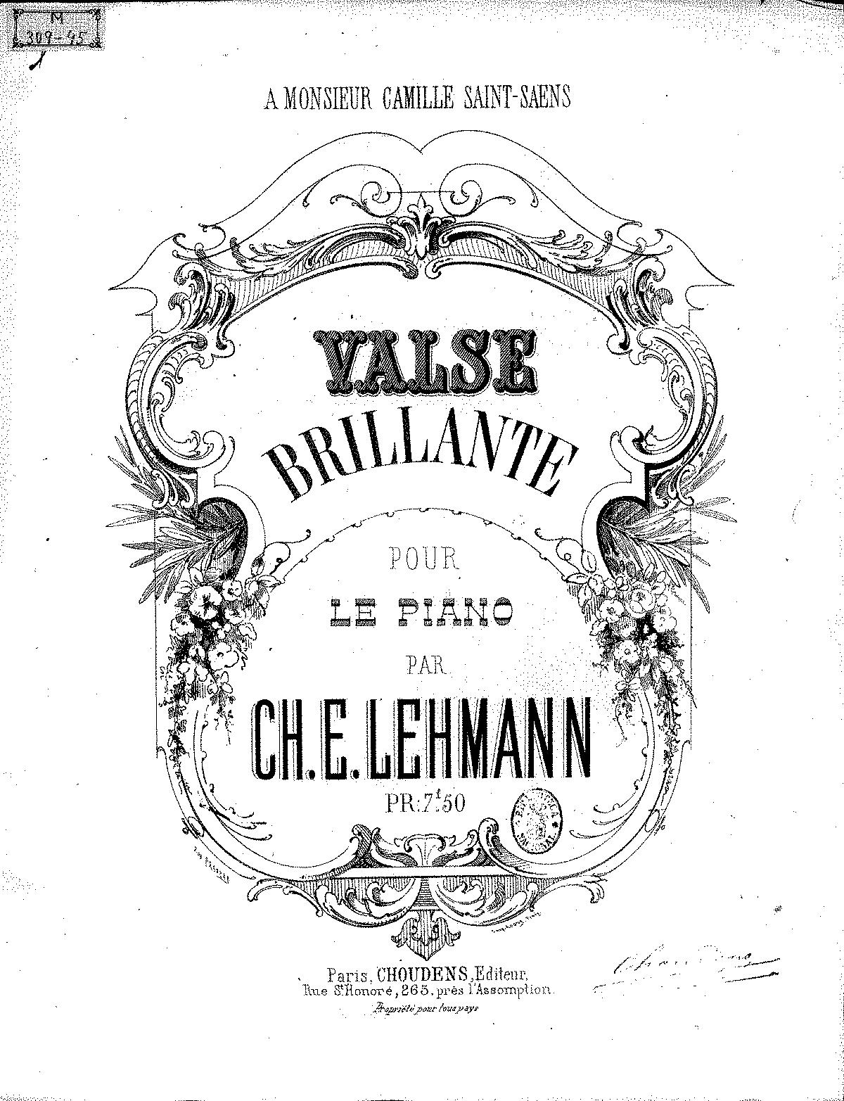 Valse brillante (Lehmann, Ch  E ) - IMSLP/Petrucci Music
