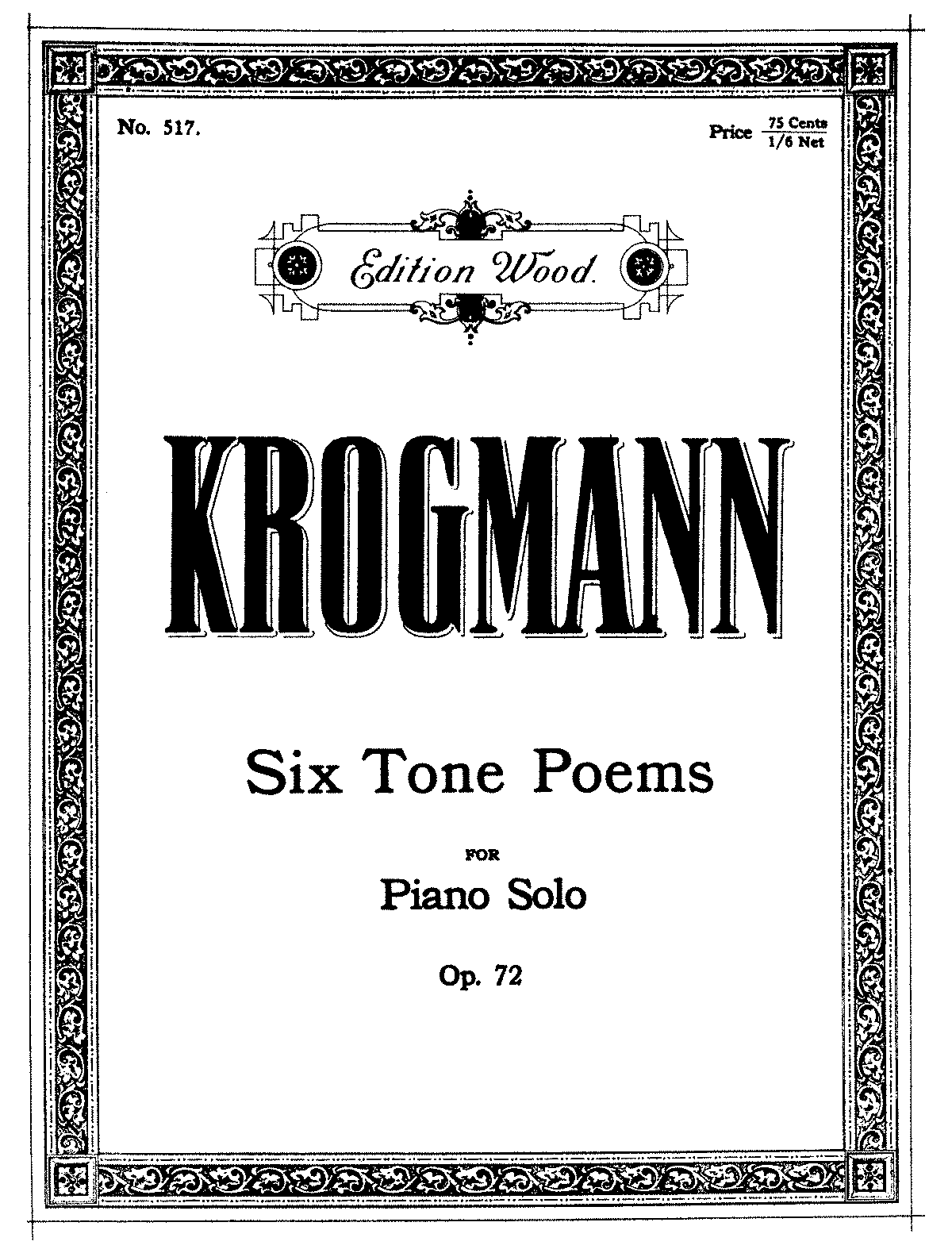 6 Tone Poems, Op 72 (Krogmann, Carrie Williams) - IMSLP/Petrucci