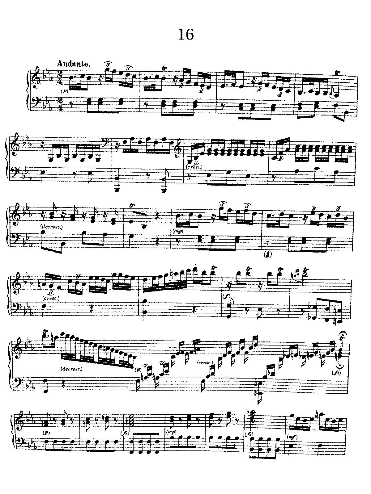 Divertimento In E Flat Major Hobxvi16 Haydn Joseph Imslp Op Amp Amazonde Complete Score