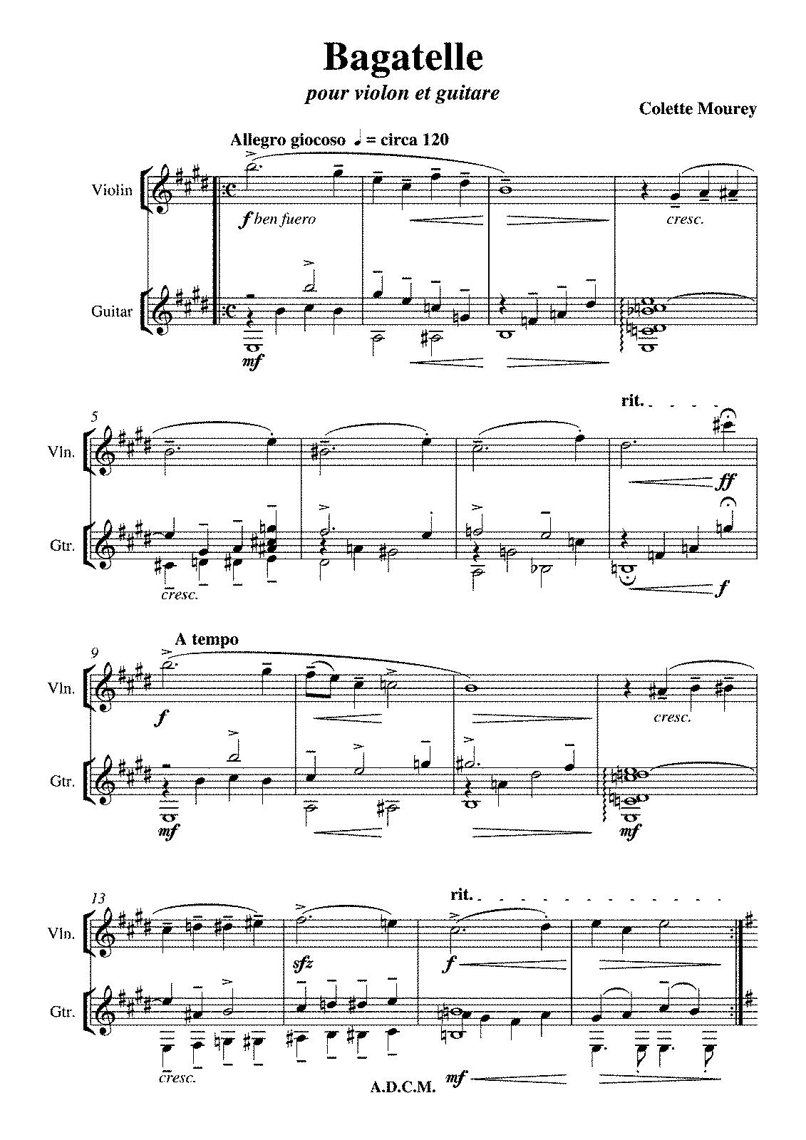 Bagatelle (Mourey, Colette) - IMSLP/Petrucci Music Library: Free