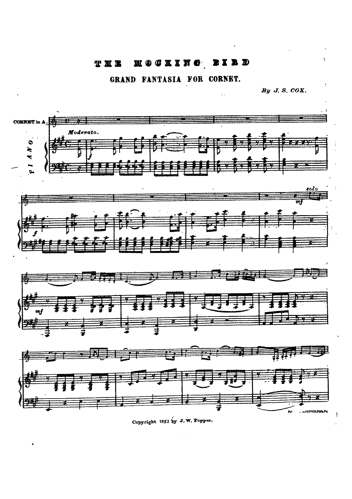 The Mocking Bird (Cox, John Summers) - IMSLP/Petrucci Music