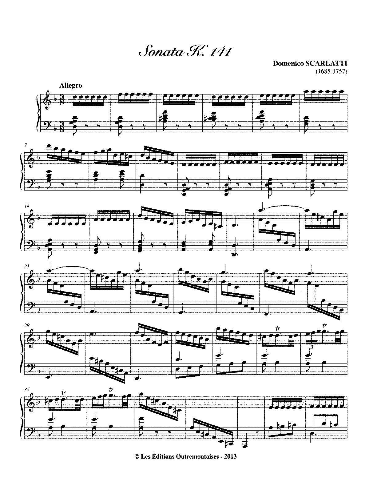 Scarlatti K 141