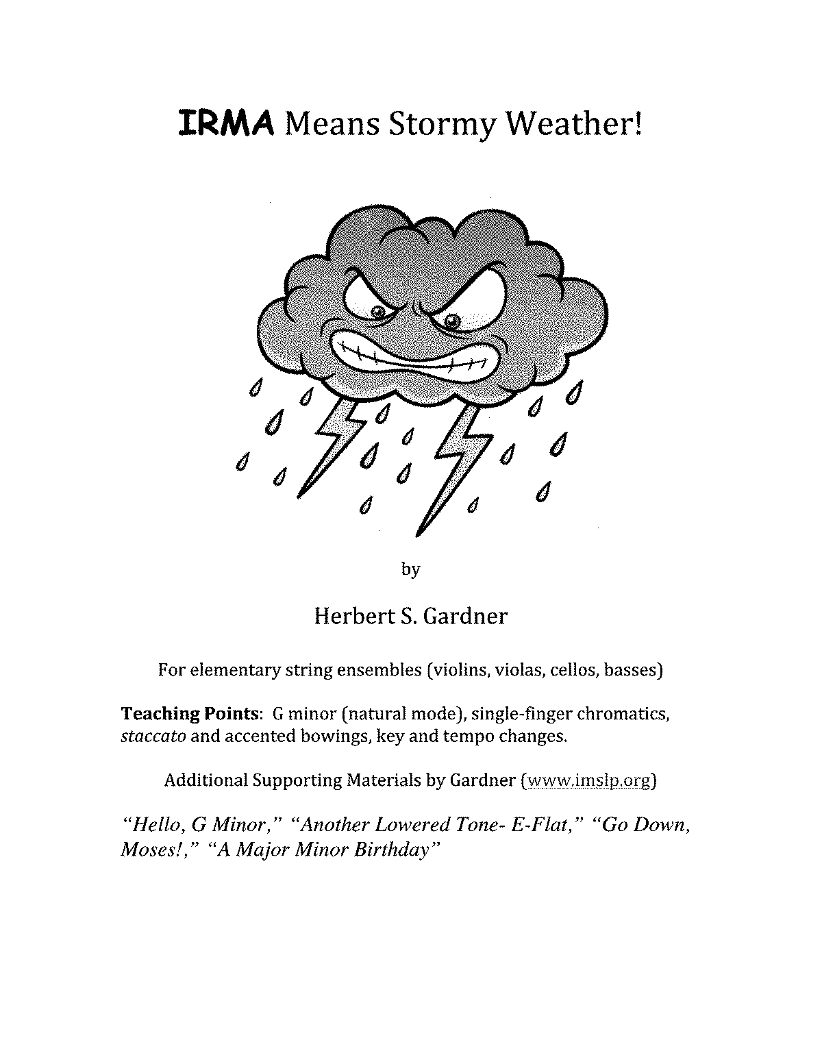 Stormy Weather For Public Libraries And >> Irma Means Stormy Weather Gardner Herbert Straus Imslp