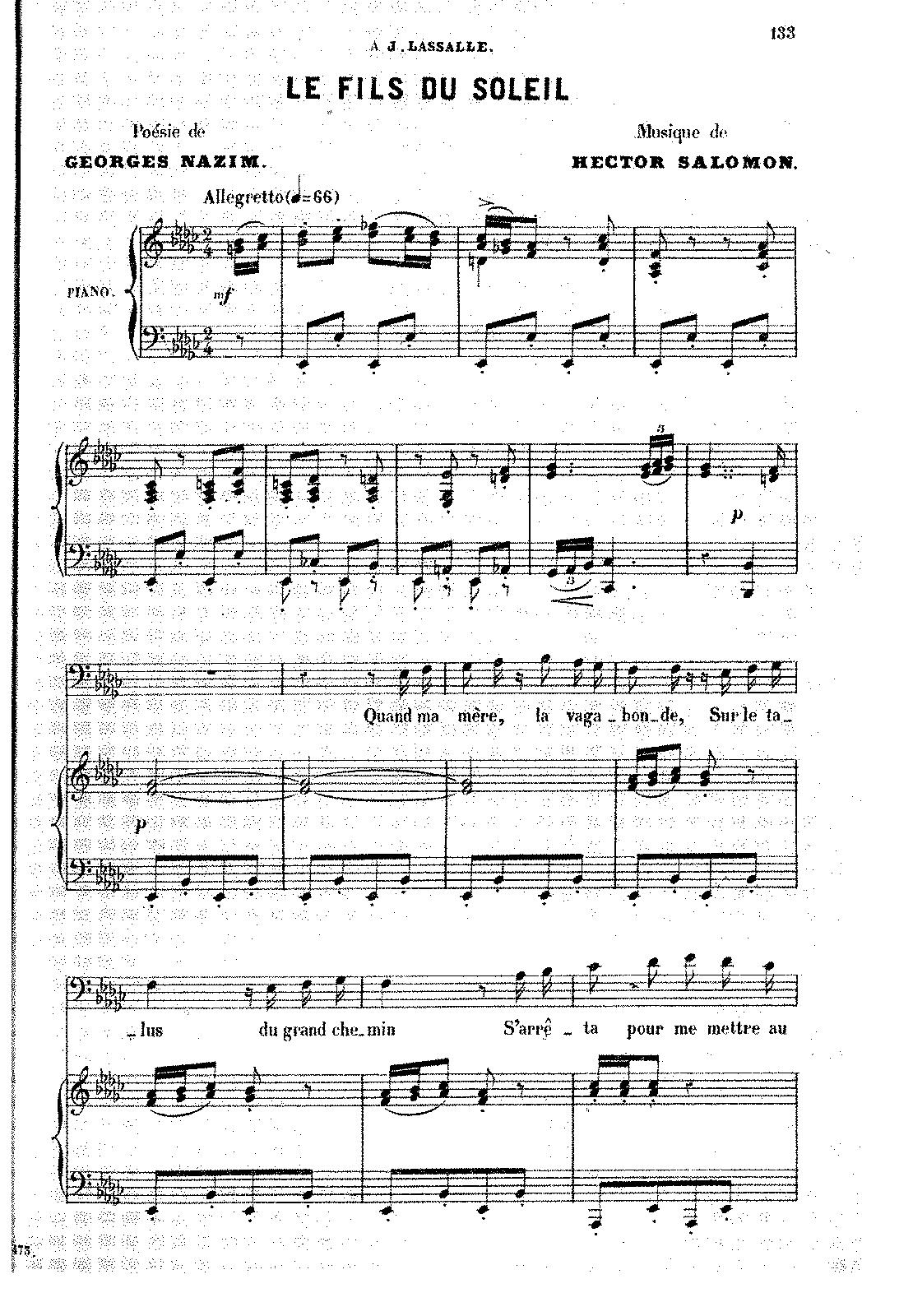 Le fils du soleil (Salomon, Hector) - IMSLP/Petrucci Music Library