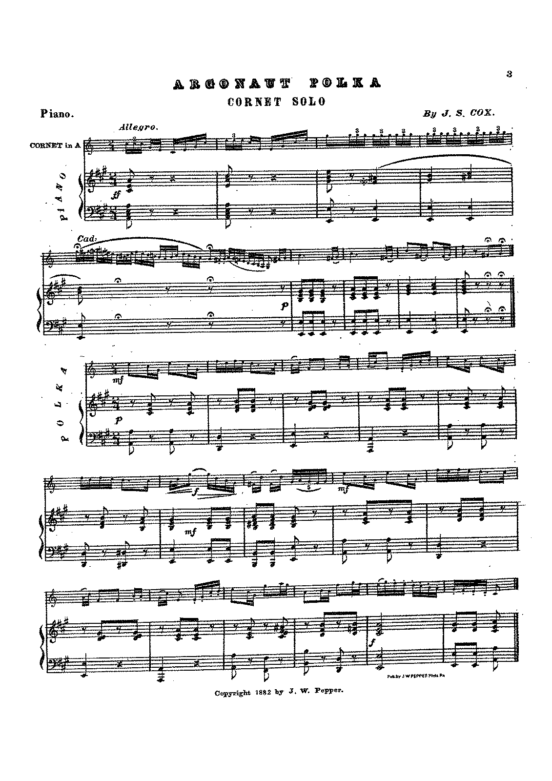 Argonaut Polka (Cox, John Summers) - IMSLP/Petrucci Music Library