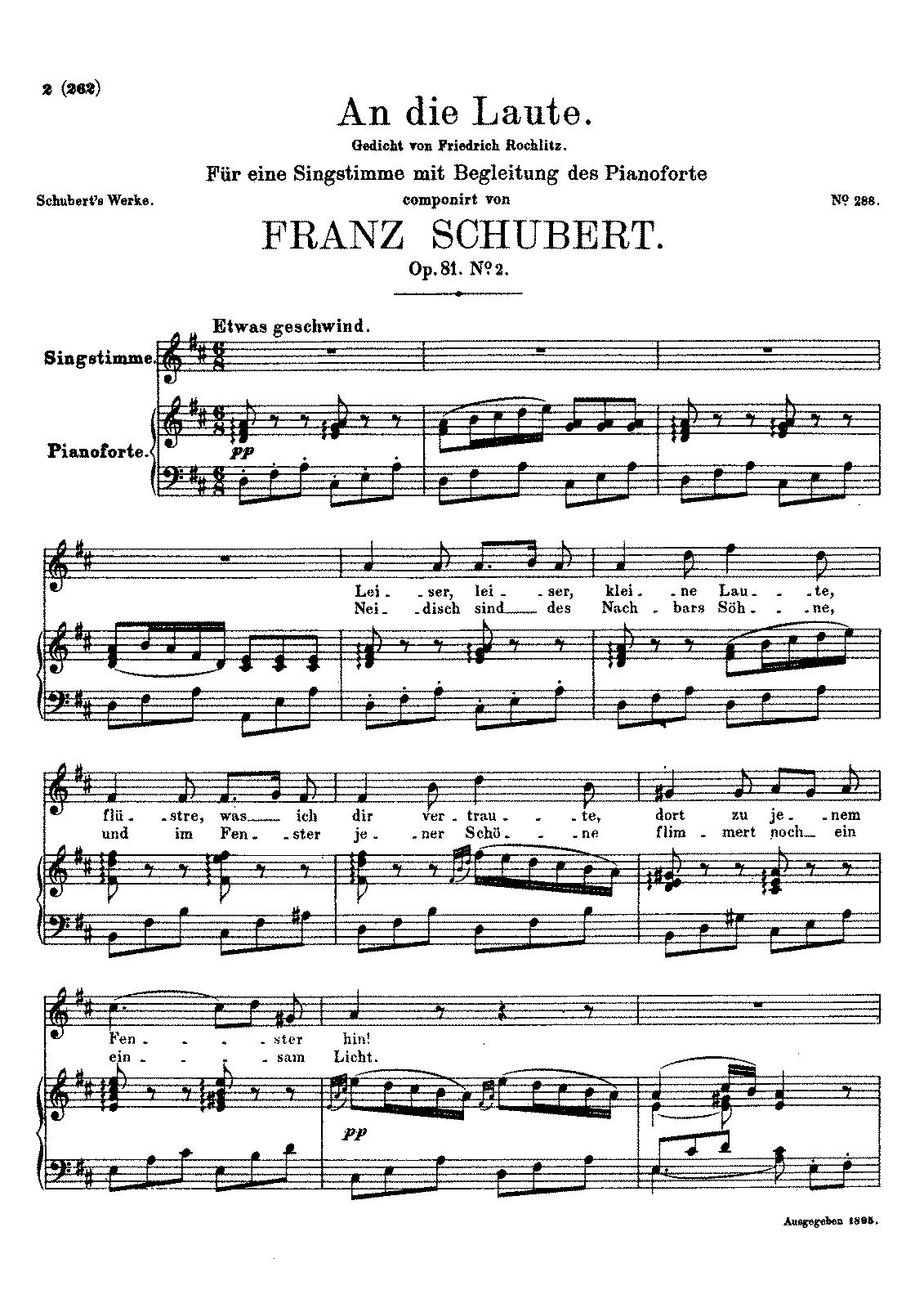An die Laute, D.905 (Schubert, Franz) - IMSLP/Petrucci Music Library ...