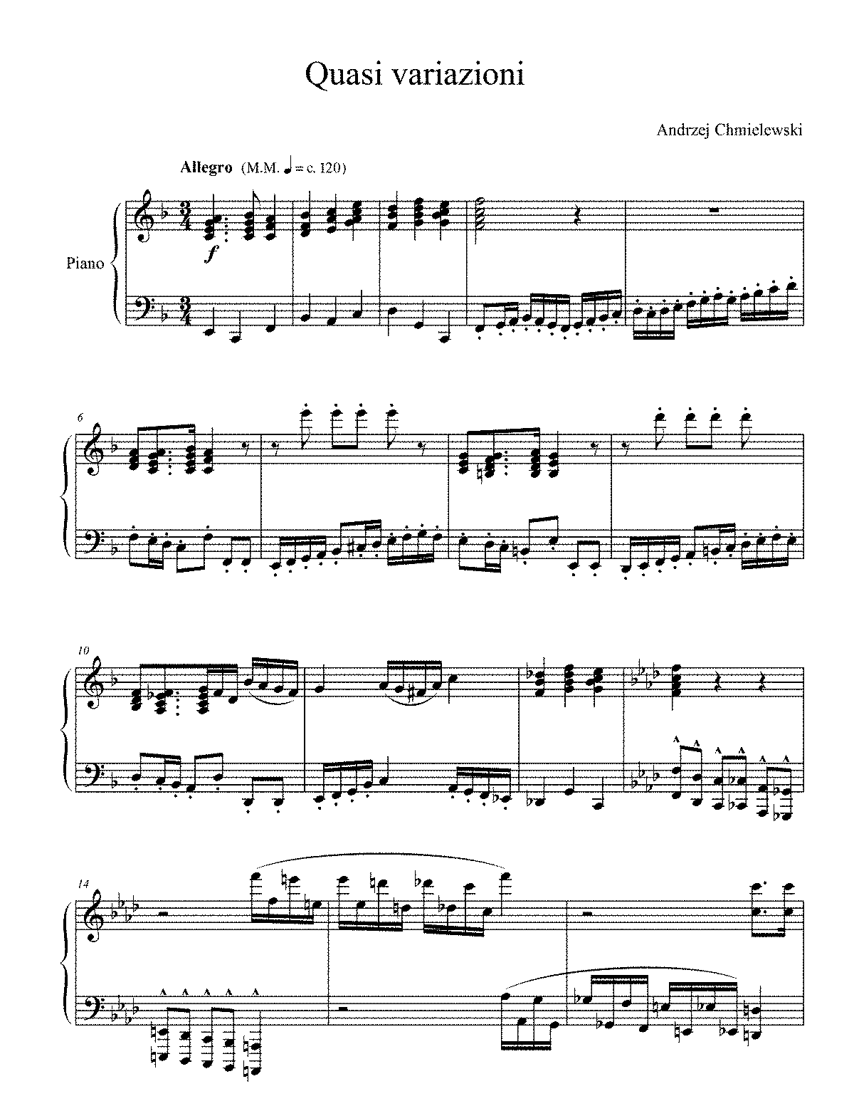 Quasi variazioni (Chmielewski, Andrzej) - IMSLP/Petrucci Music