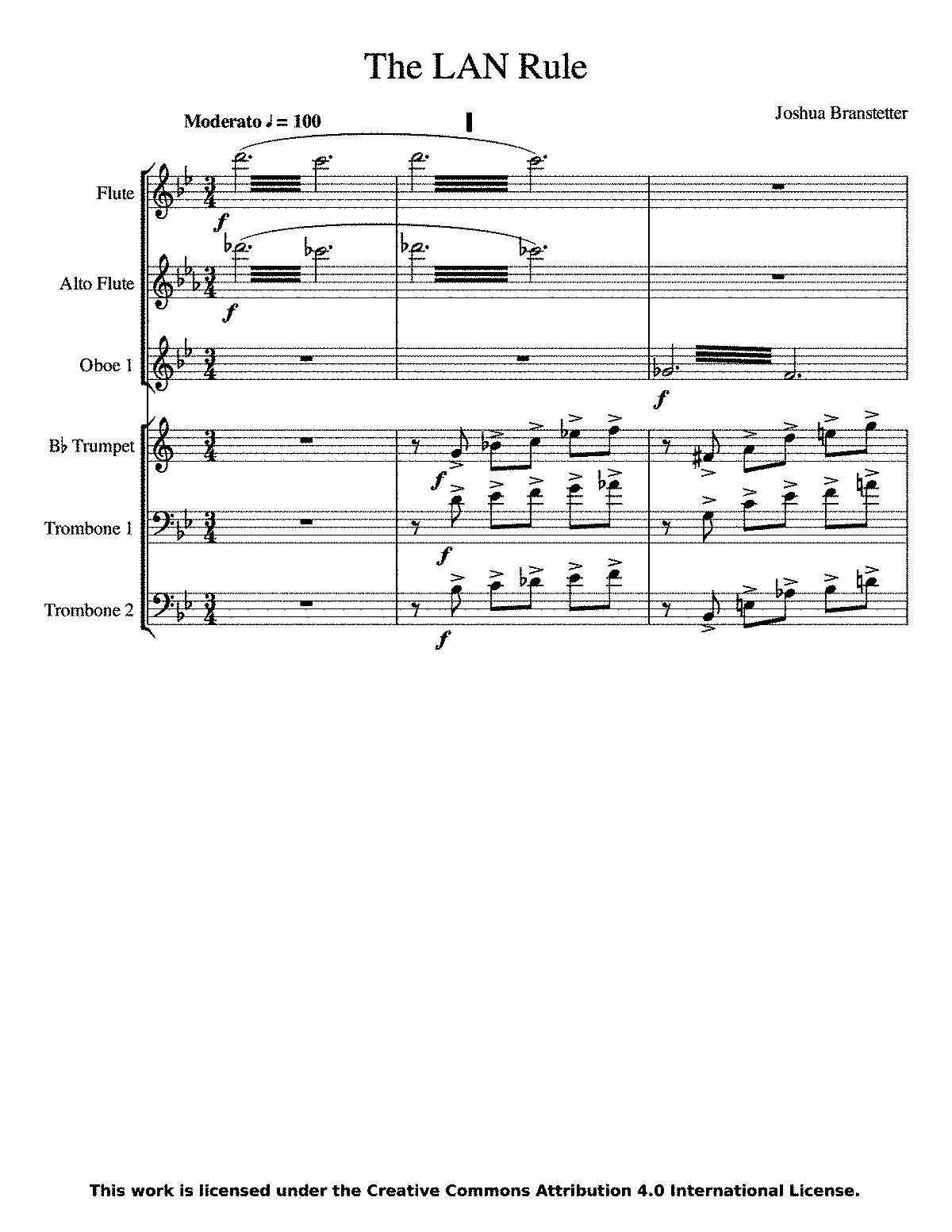 The LAN Rule, Op 14 (Branstetter, Joshua) - IMSLP/Petrucci Music