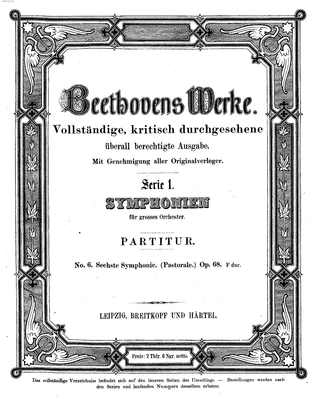 Symphony No 6, Op 68 (Beethoven, Ludwig van) - IMSLP/Petrucci Music