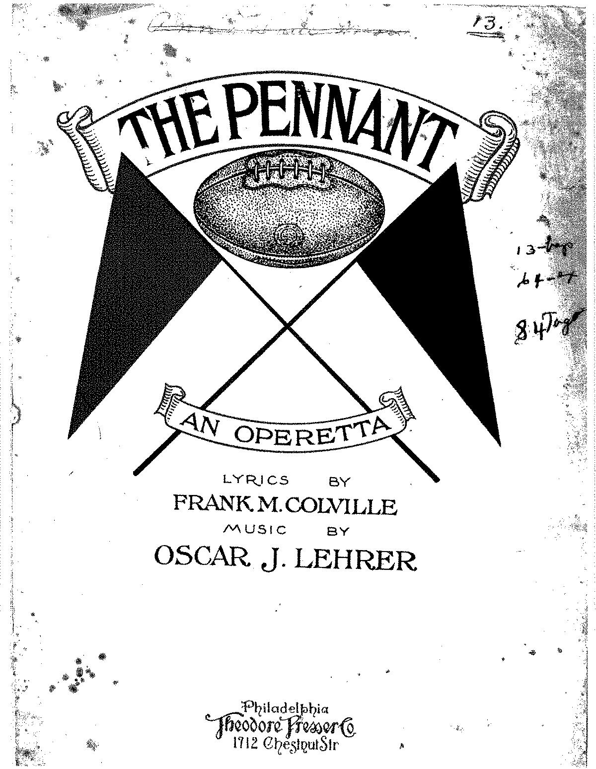 The Pennant (Lehrer, Oscar J ) - IMSLP/Petrucci Music