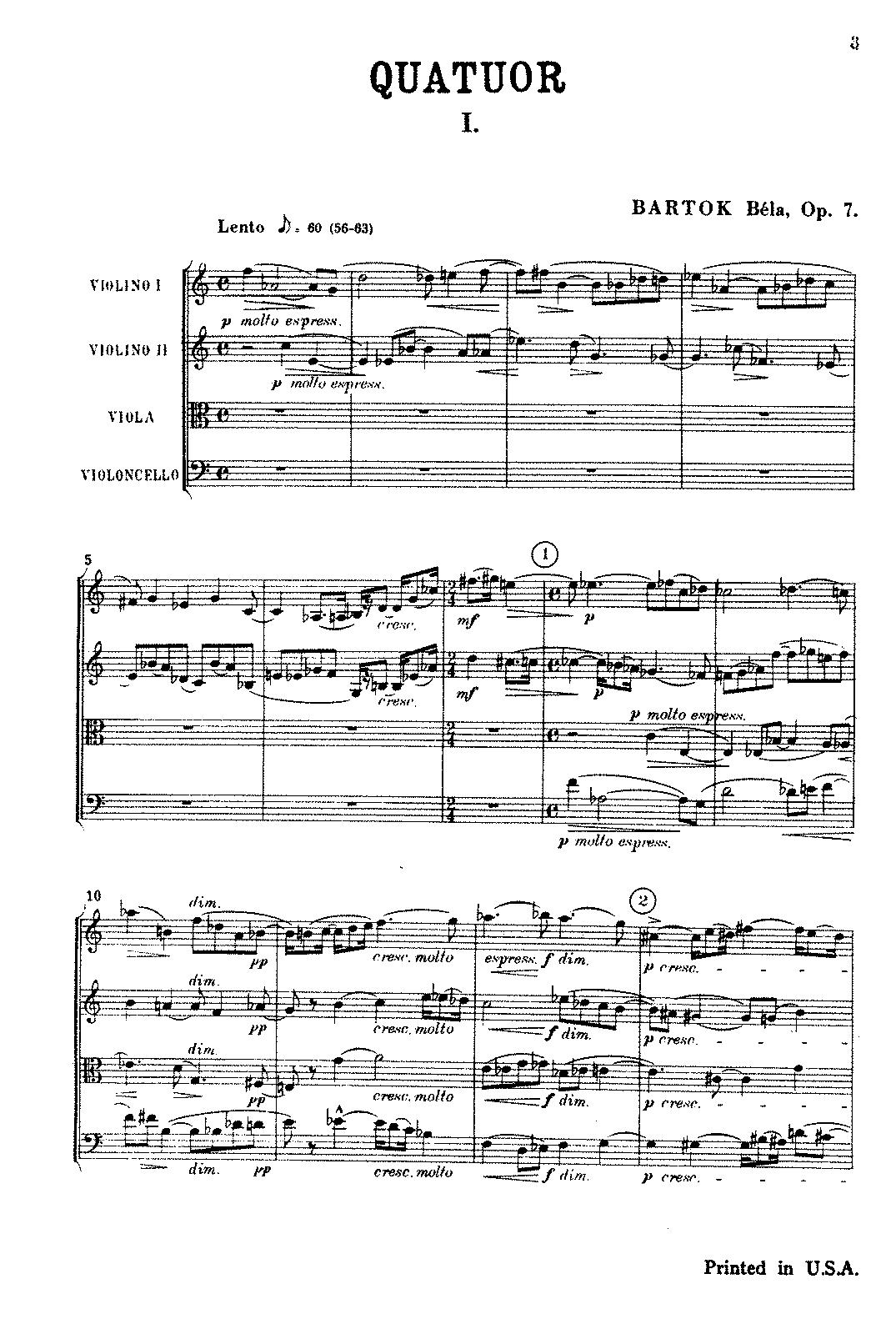 String Quartet No 1, Sz 40 (Bartók, Béla) - IMSLP: Free