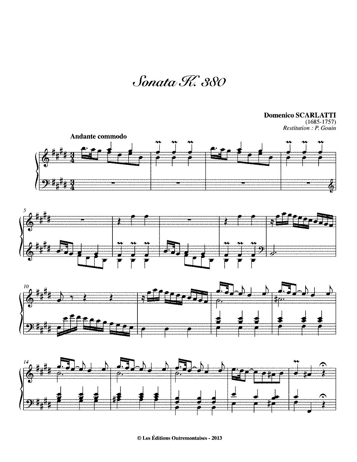 Scarlatti K 380