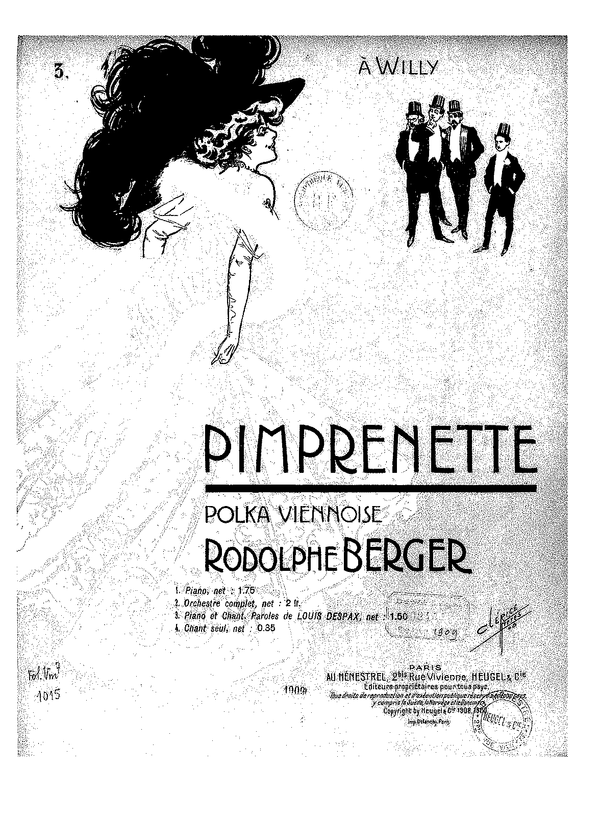 Pimprenette (Berger, Rodolphe) - IMSLP/Petrucci Music Library: Free