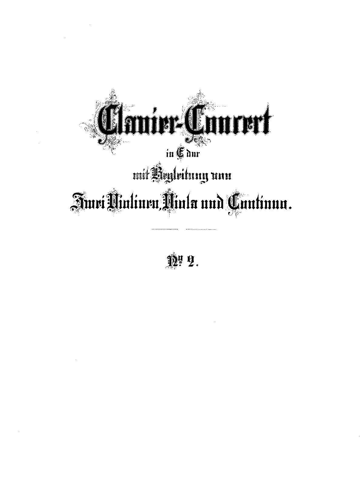harpsichord concerto no2 in e major bwv 1053 bach johann sebastian imslppetrucci music library free public domain sheet music