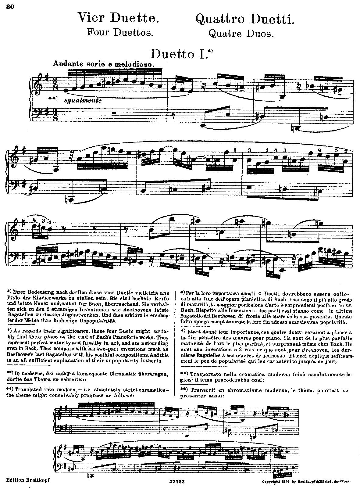4 Duettos, BWV 802-805 (Bach, Johann Sebastian) - IMSLP/Petrucci ...