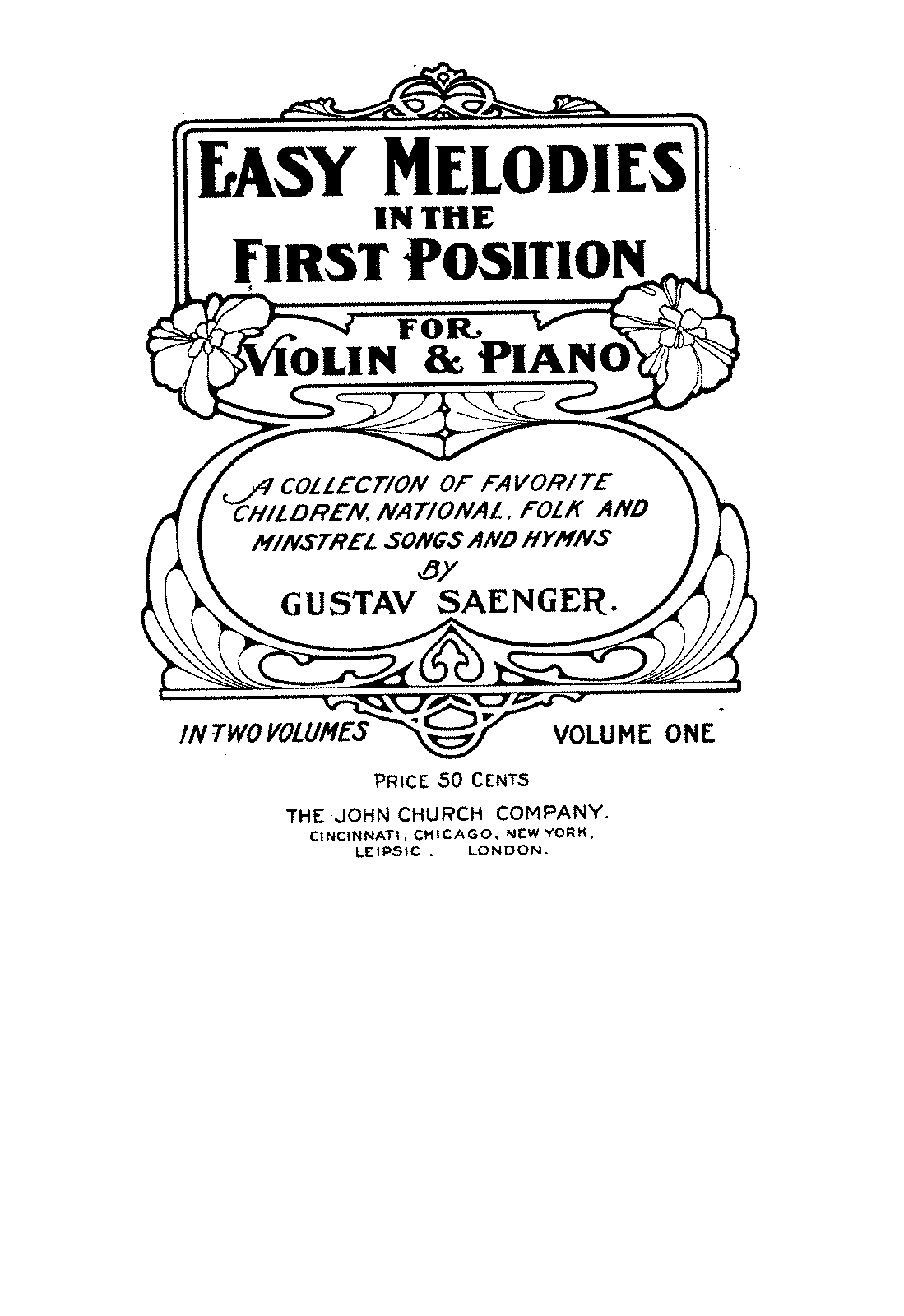 Easy Melodies in the First Position (Saenger, Gustav