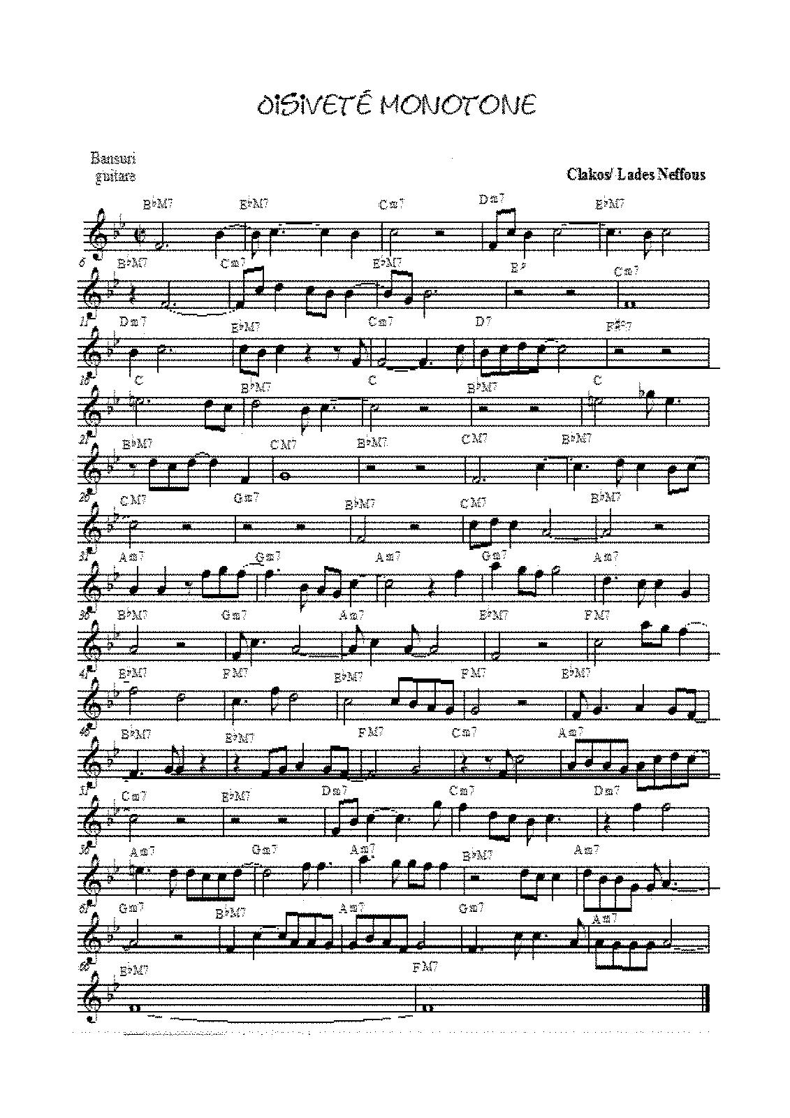 Oisiveté monotone (Marcoux, Jean-François) - IMSLP/Petrucci