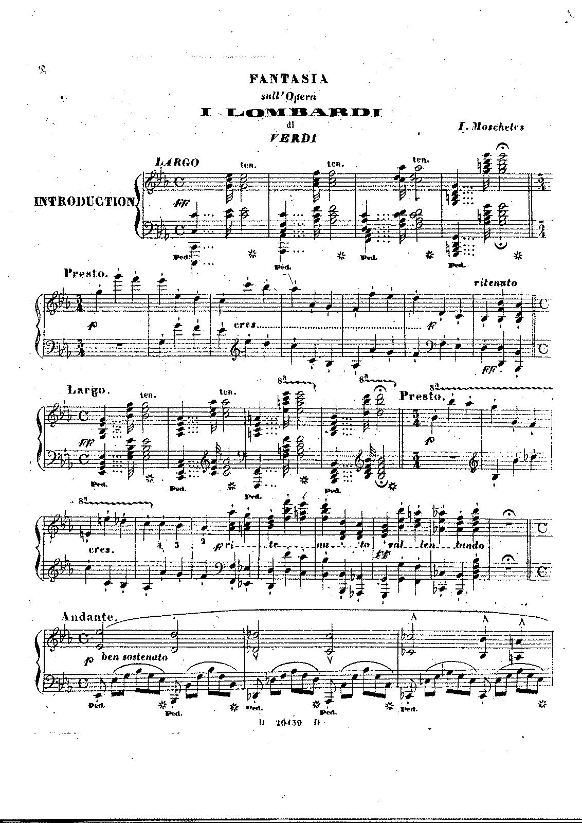 Fantasia sur 'I Lombardi' (Moscheles, Ignaz) - IMSLP/Petrucci Music