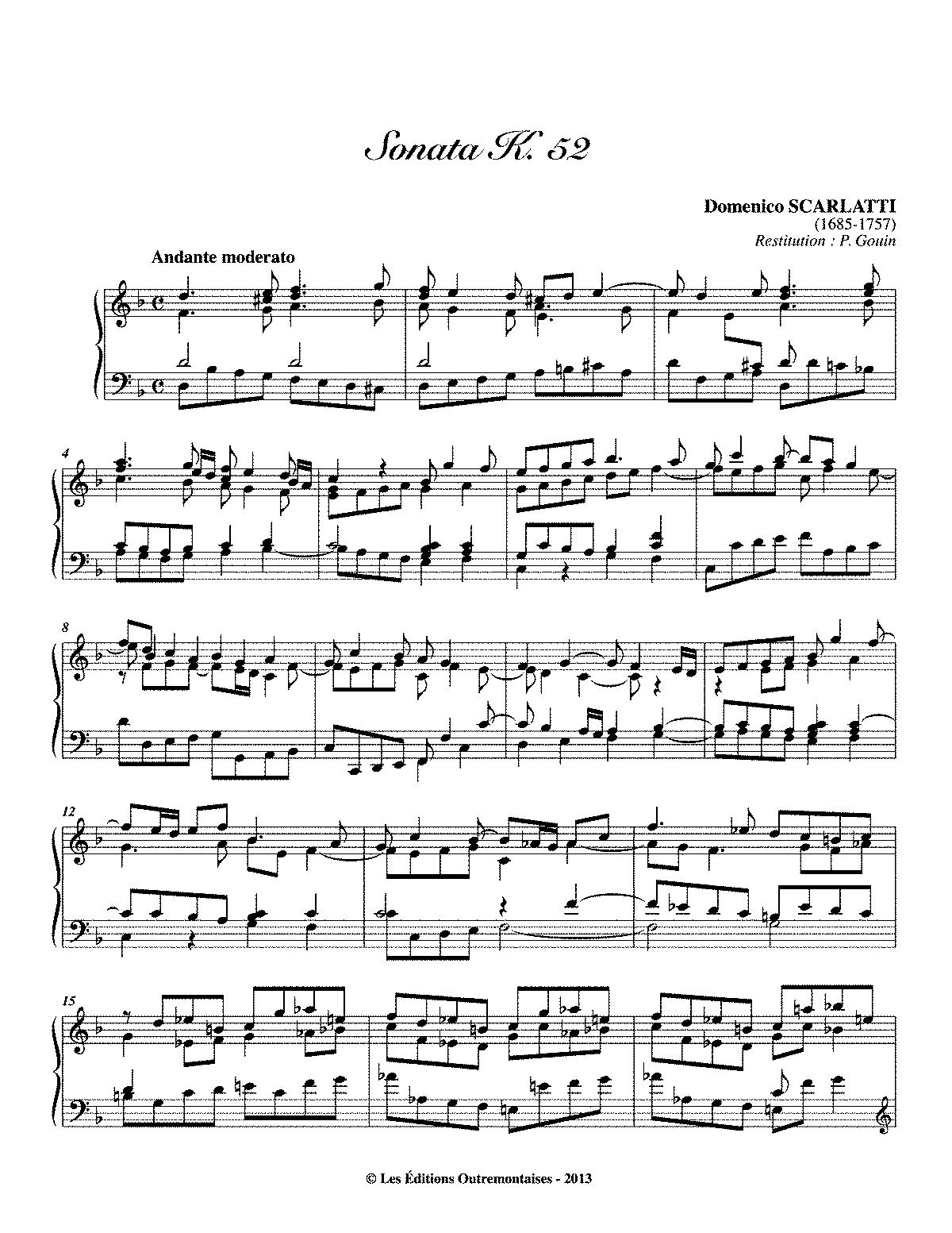 Scarlatti K 52