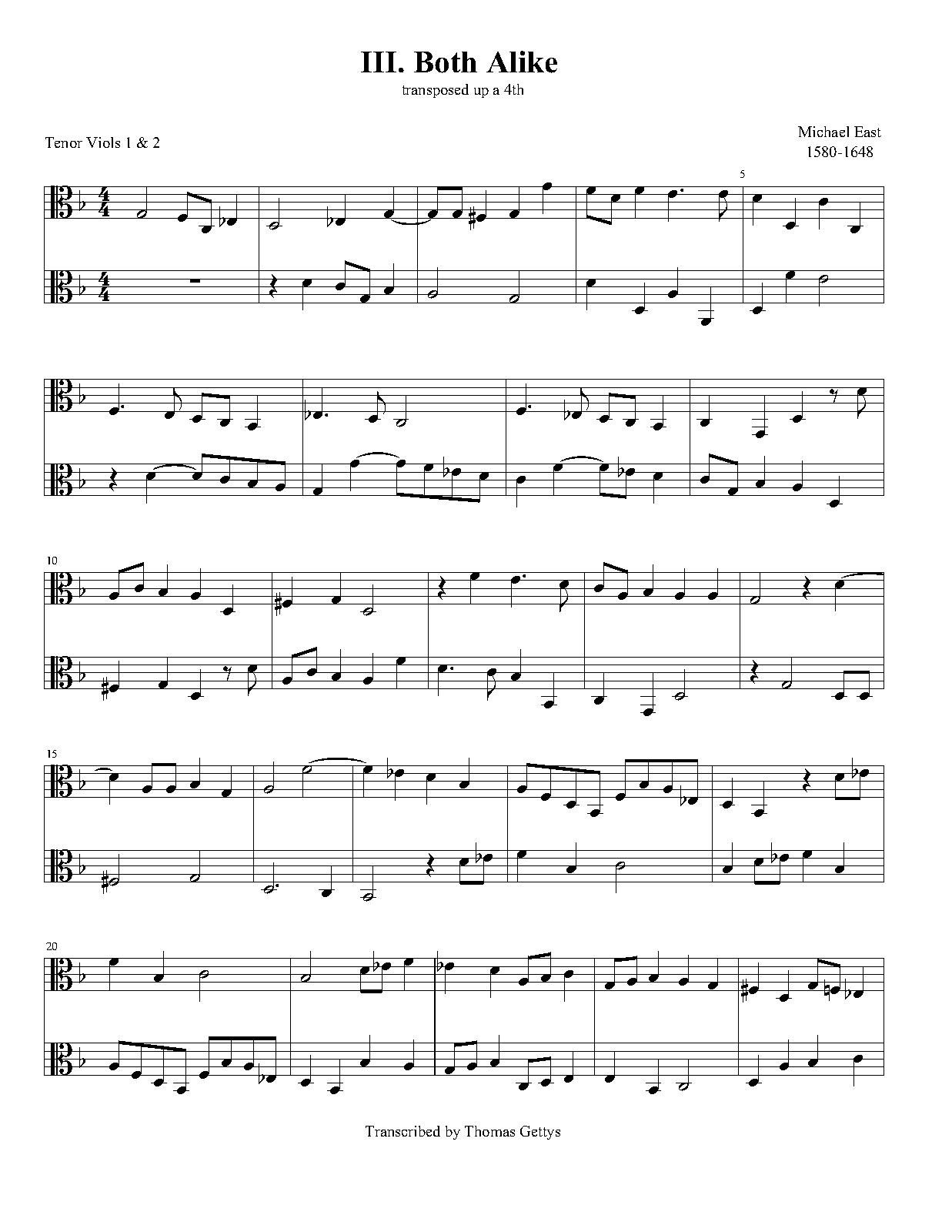 Both Alike (East, Michael) - IMSLP/Petrucci Music Library