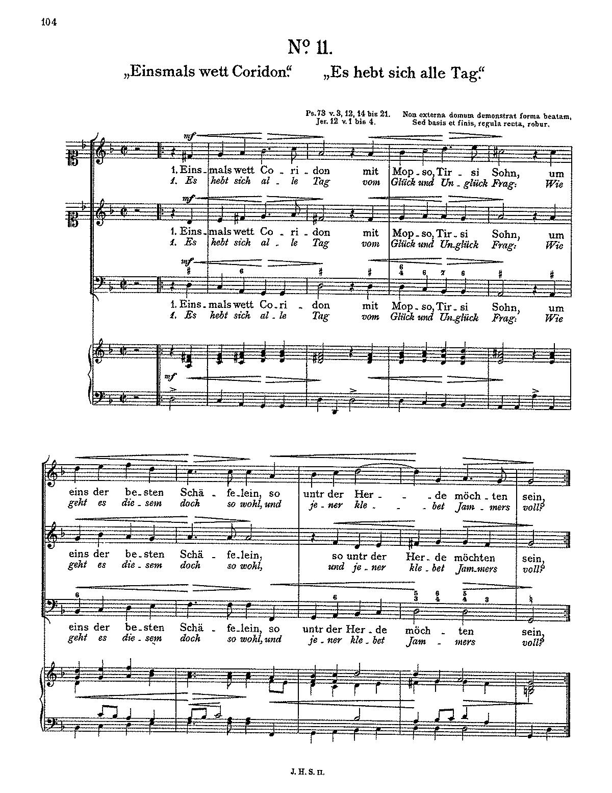 Einsmals wett Coridon (Schein, Johann Hermann) - IMSLP/Petrucci