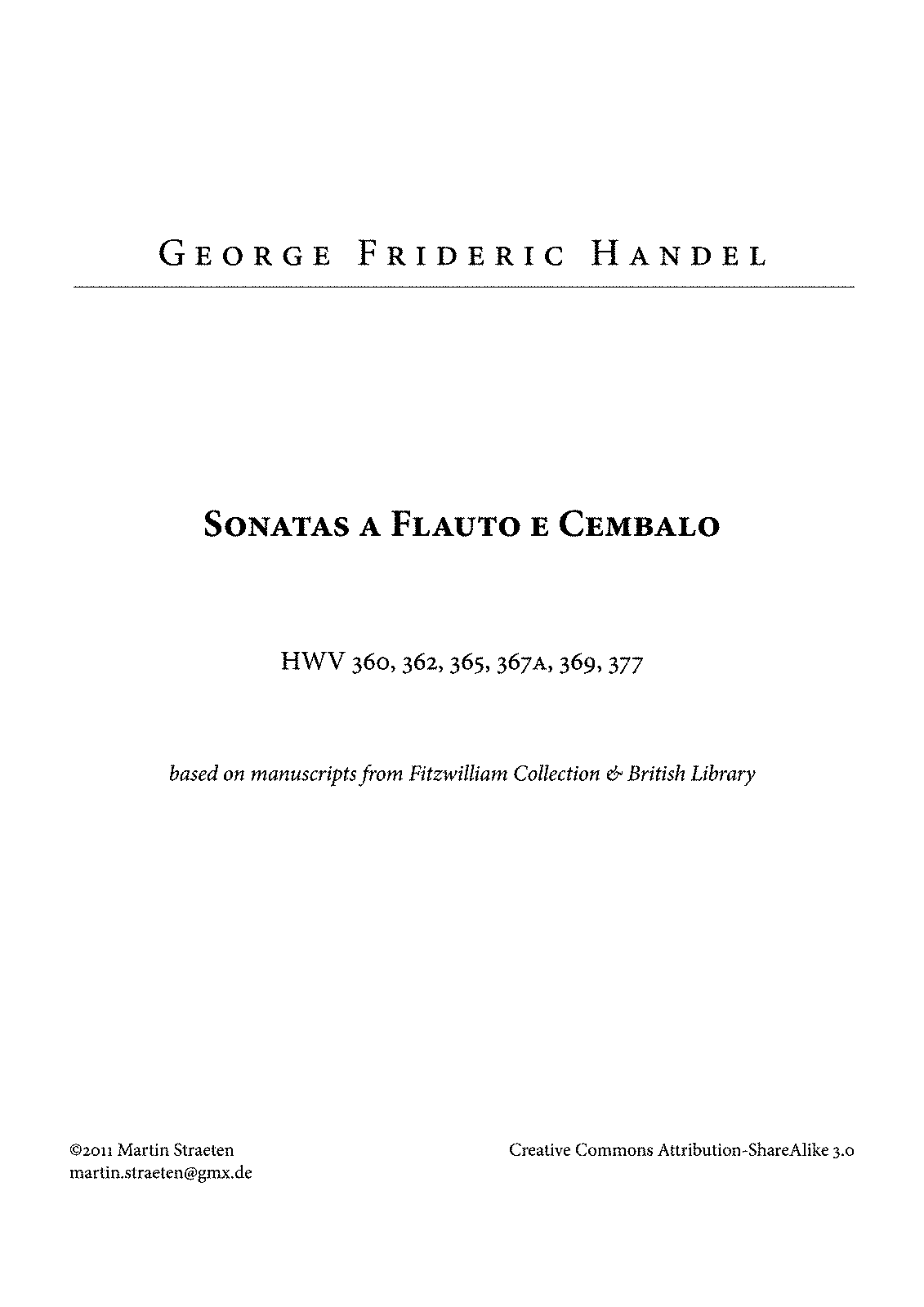 sonatas for an accompanied solo instrument op 1 handel george