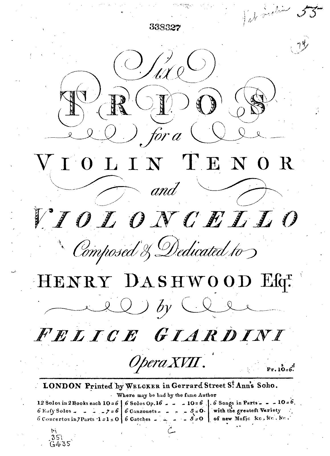 Giardini, op. 17