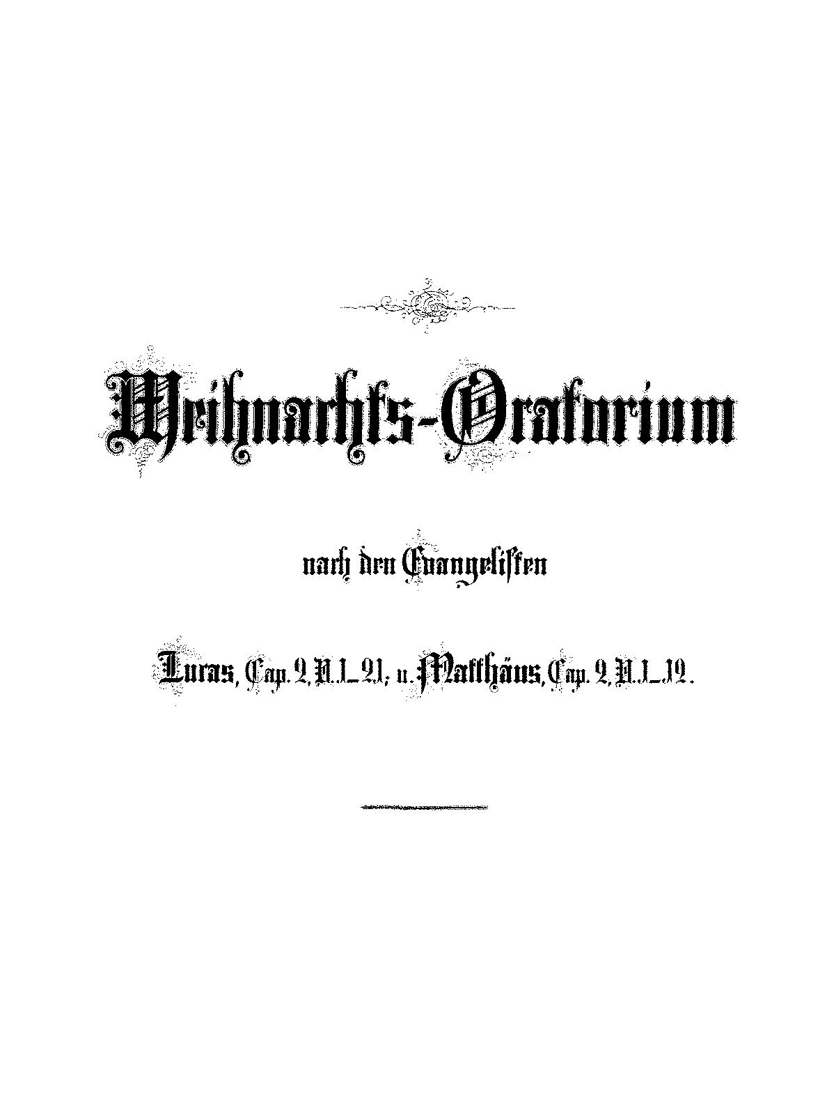 Weihnachtsoratorium, BWV 248 (Bach, Johann Sebastian) - IMSLP ...
