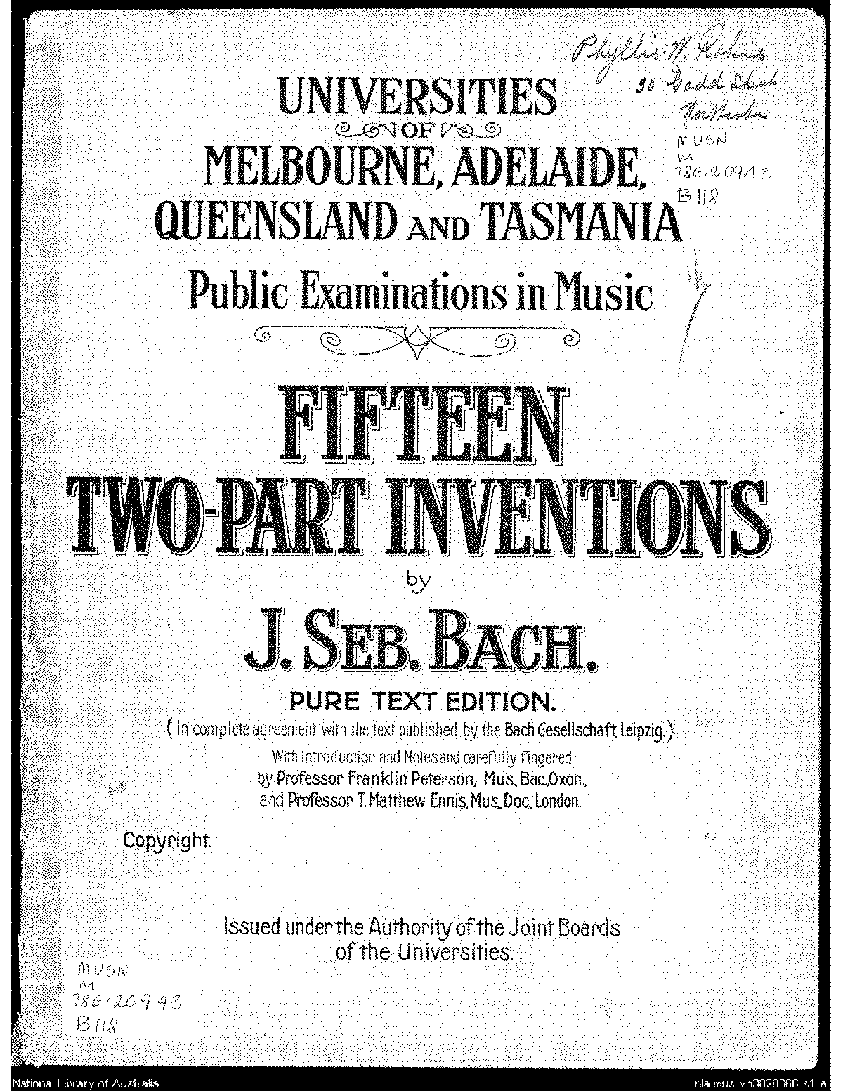 Bach Inventions Pdf