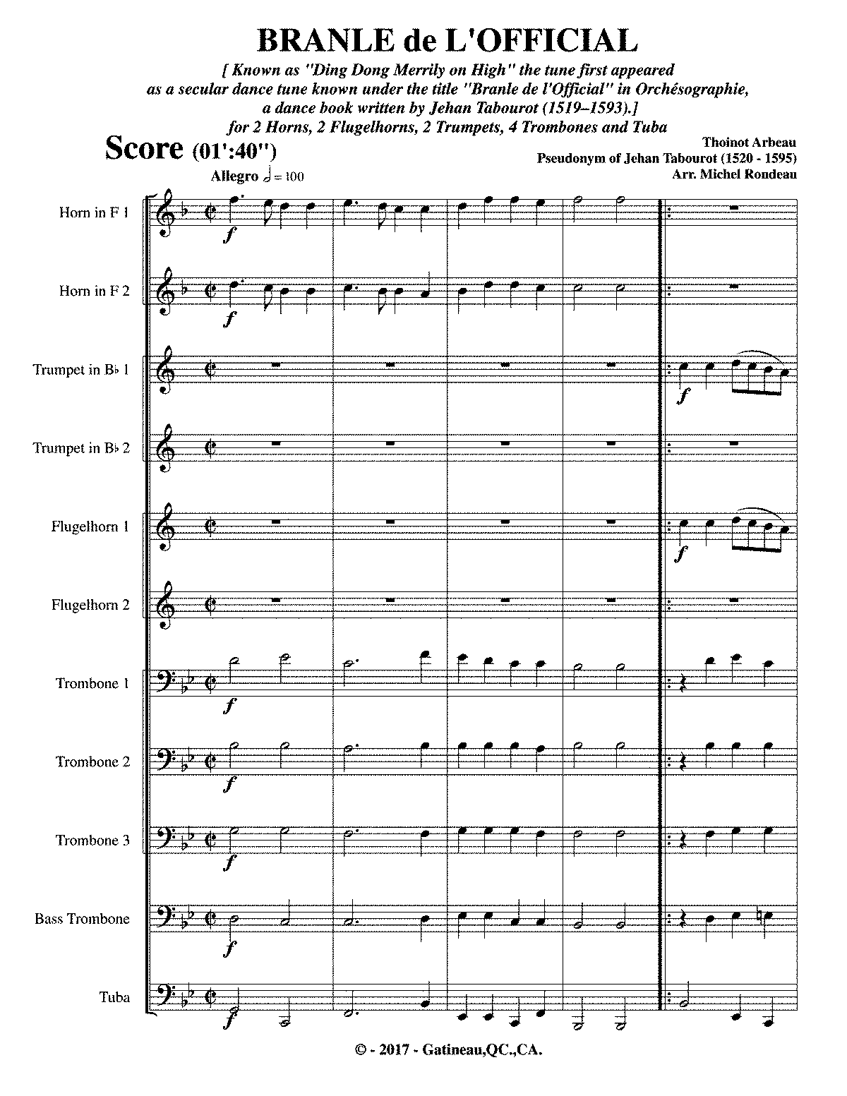 Orchésographie (Arbeau, Thoinot) - IMSLP: Free Sheet Music ...