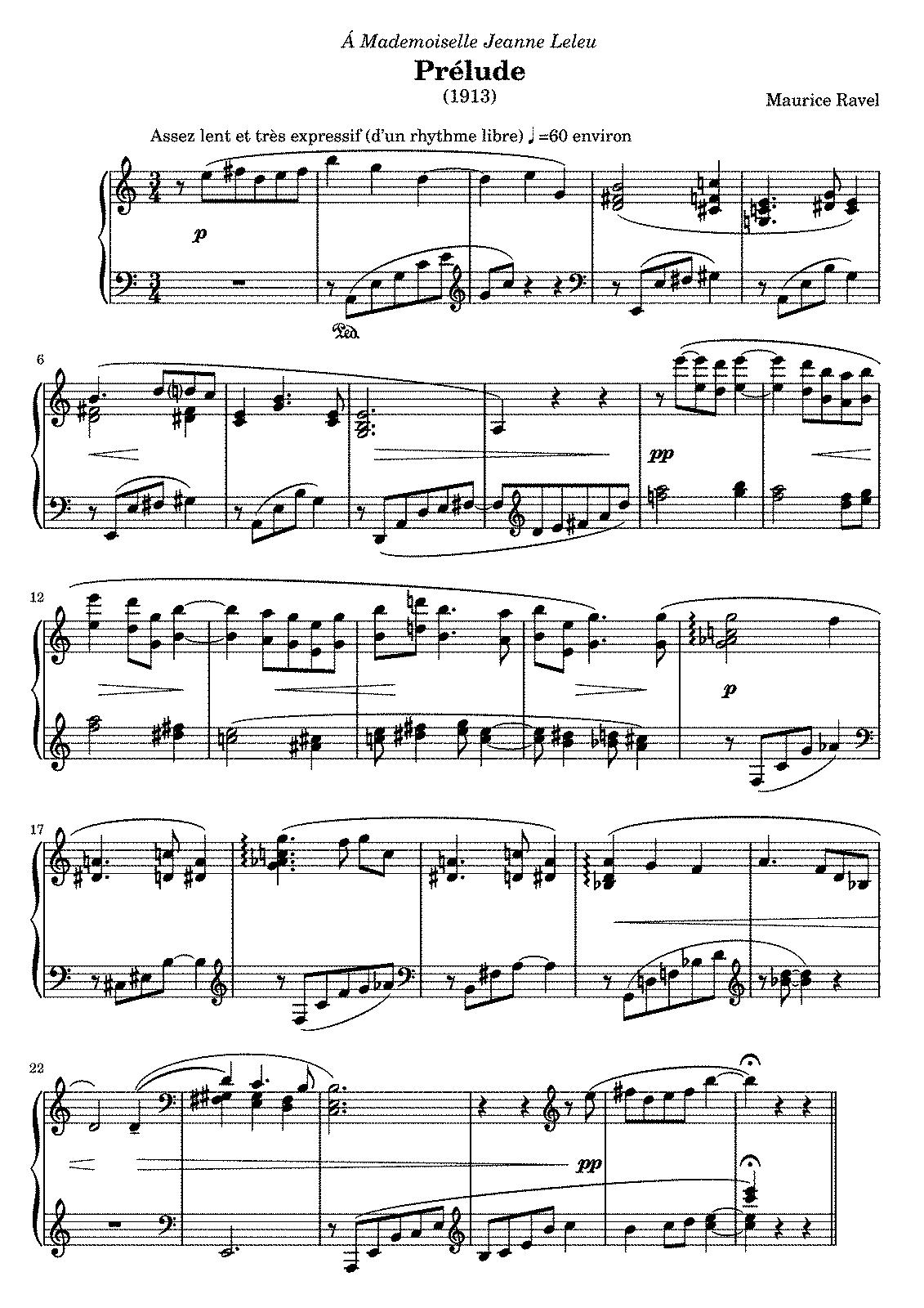 Ravel bolero musique de ballet pour orchestre en do majeur - 1 4