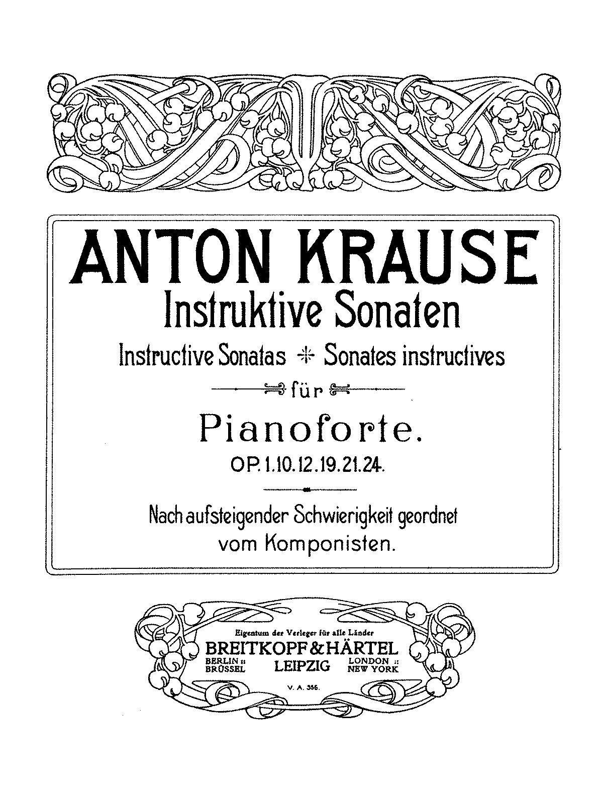 2 instructive Sonaten, Op 21 (Krause, Anton) - IMSLP/Petrucci Music