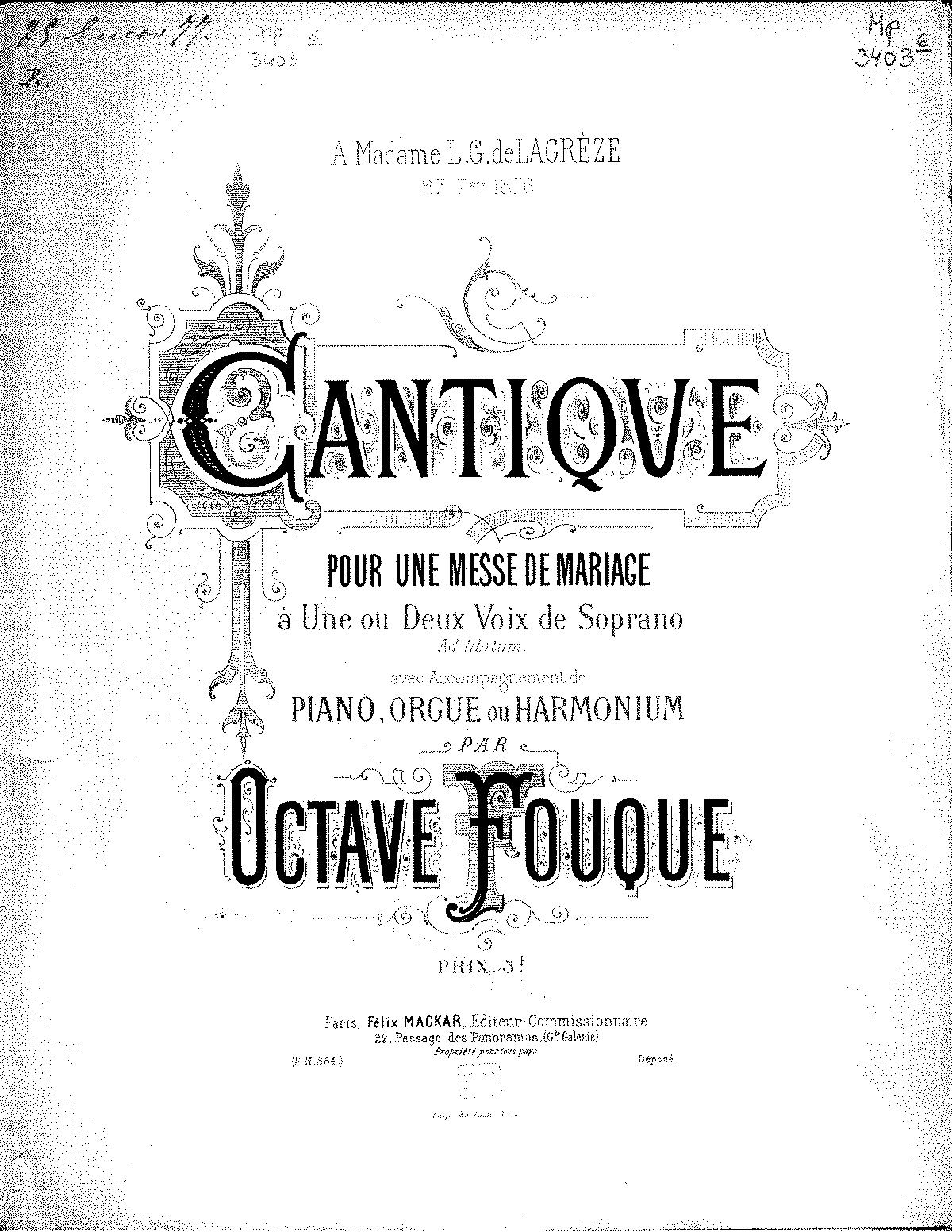 Cantique (Fouque, Octave) - IMSLP/Petrucci Music Library: Free
