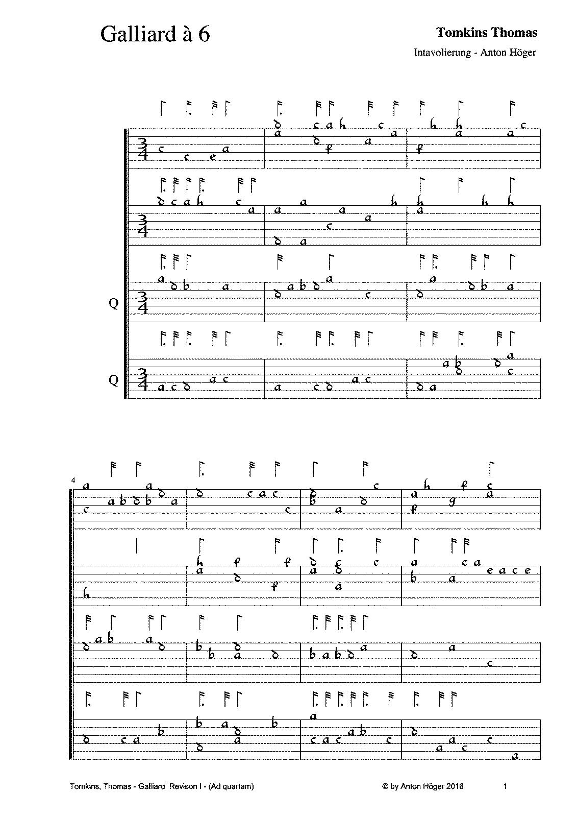 Galliard à 6 (Tomkins, Thomas) - IMSLP/Petrucci Music