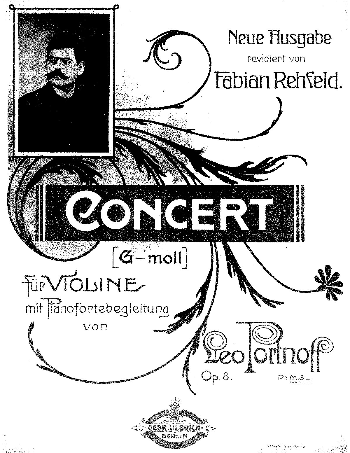 Violin Concerto, Op 8 (Portnoff, Leo) - IMSLP/Petrucci Music