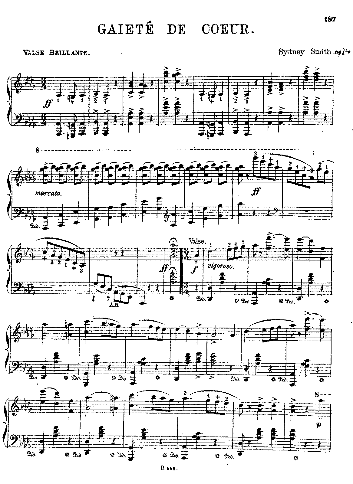Gaieté de coeur, Op 24 (Smith, Sydney) - IMSLP/Petrucci Music