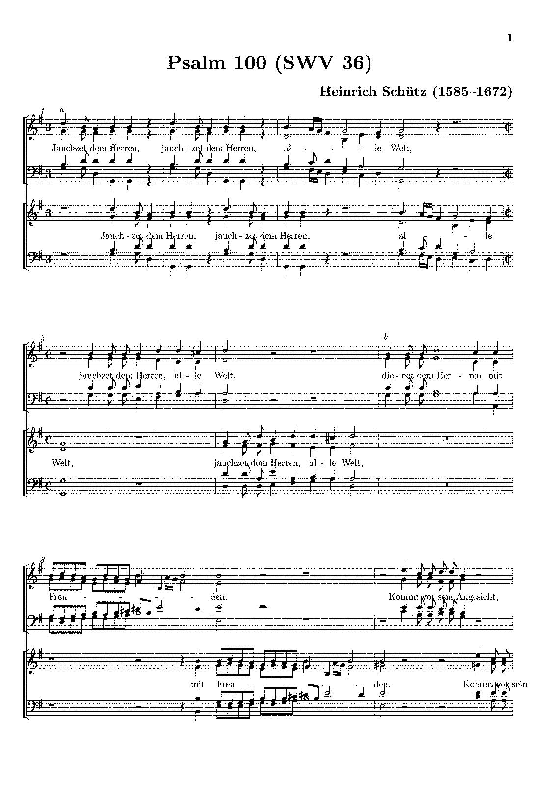 heinrich schütz psalmen