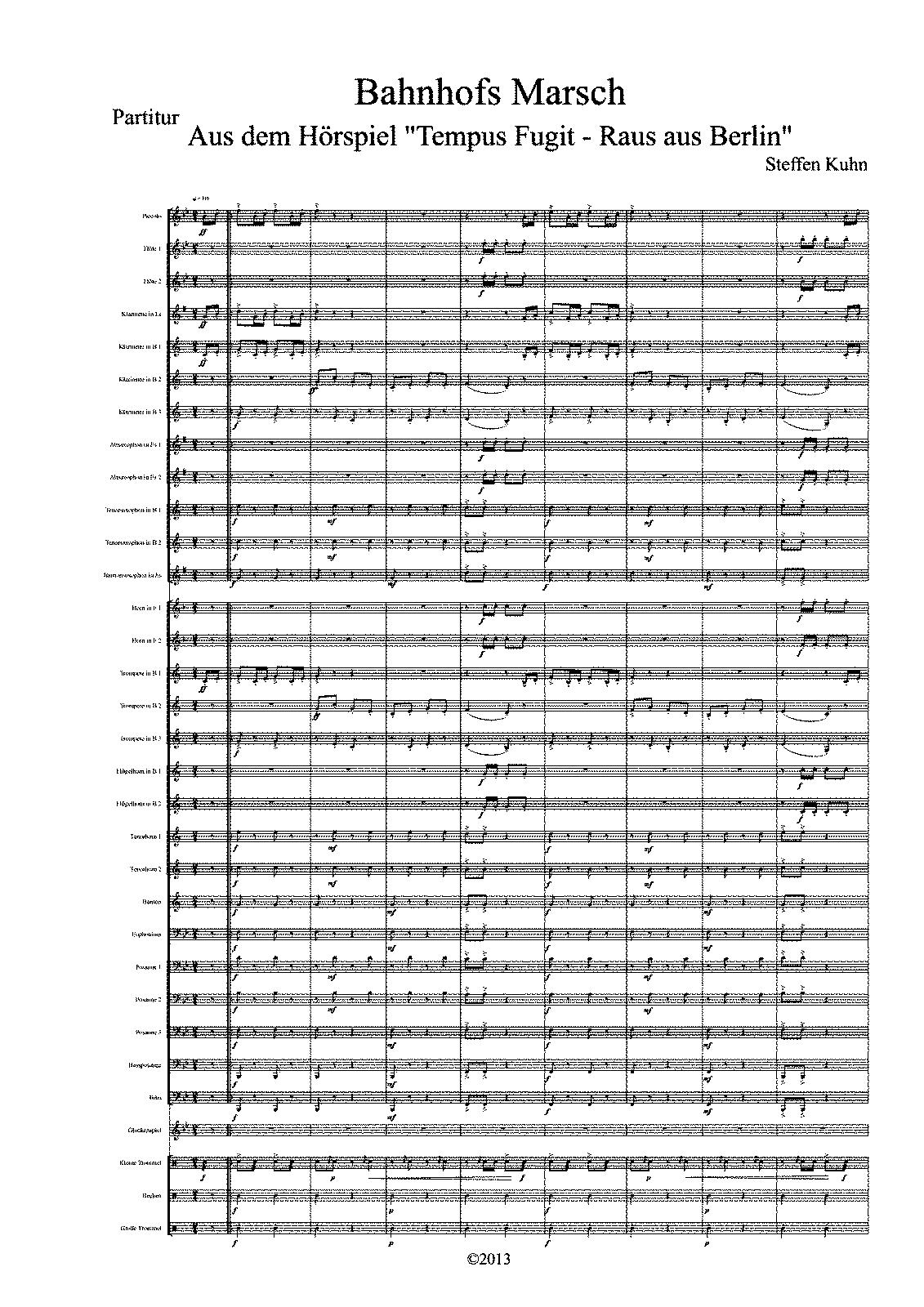 Bahnhofs-Marsch (Kuhn, Steffen) - IMSLP/Petrucci Music Library: Free