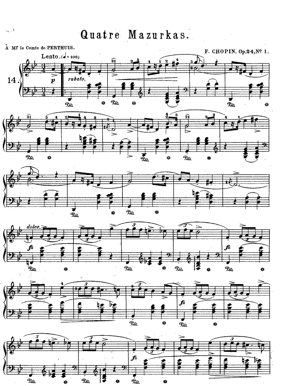 Mazurkas Op 24 Chopin Fr 233 D 233 Ric Imslp Petrucci Music