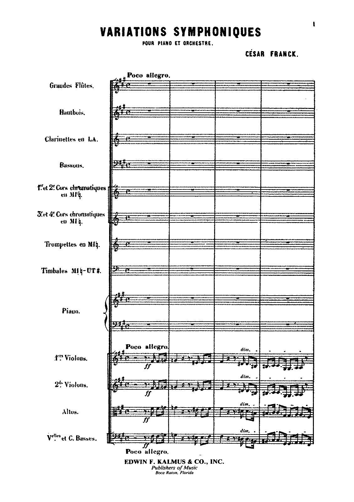 Franck, Variations symphoniques