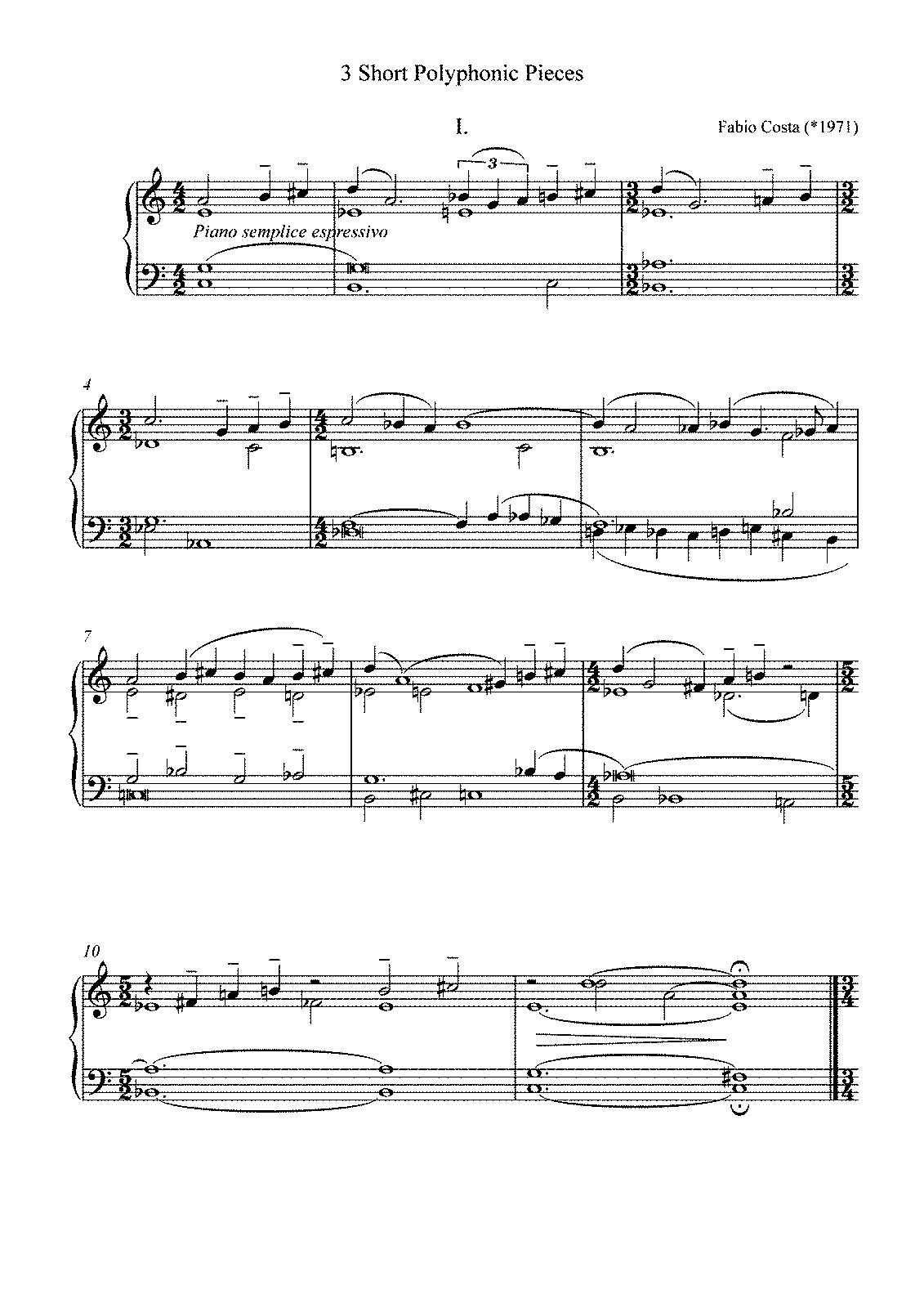 3 Short Polyphonic Pieces (Costa, Fabio) - IMSLP/Petrucci